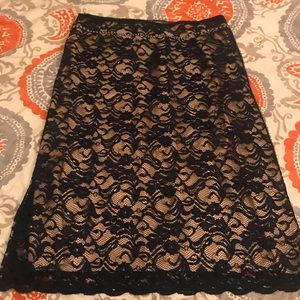 Ruth brand lace skirt with gold studs